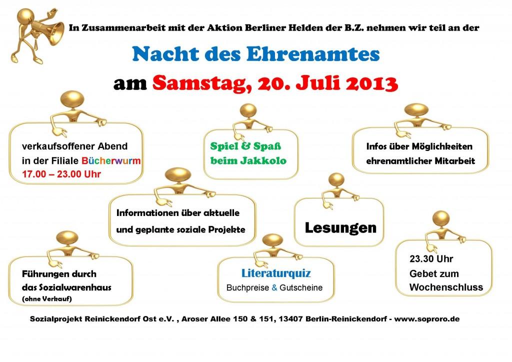 Nacht des Ehrenamtes - 20.07.2013
